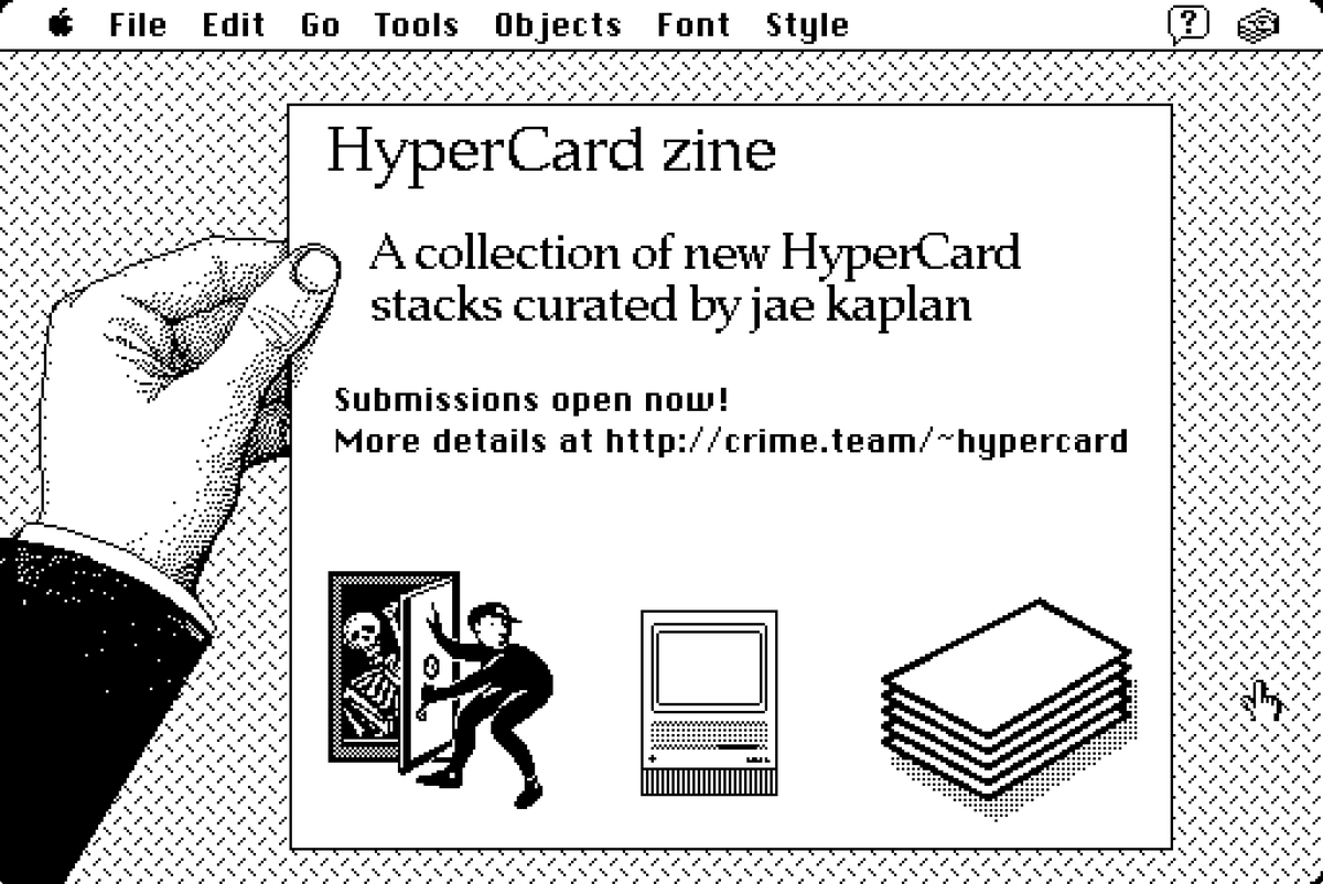 Hyperzine - Hypercard Zine now accepting submissions – ~ajroach42